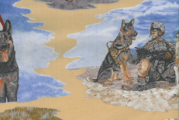 Paws for Valor Fabric