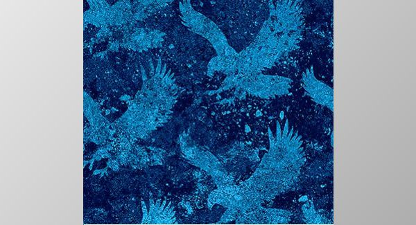 Navy fabric with Pale Blue Eagles