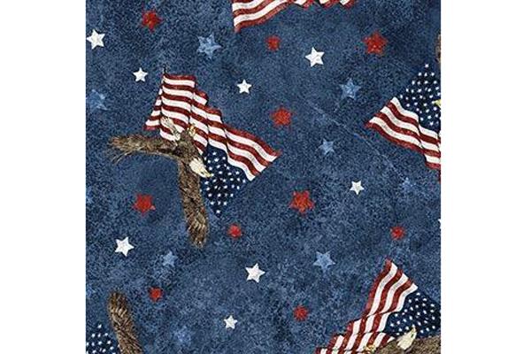 Soaring Eagles on Navy Background