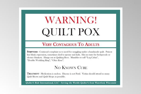 Quilt Pox Sign - Large