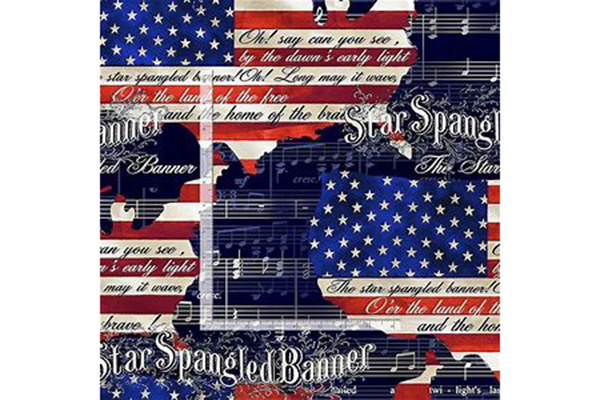 Star Spangled Banner USA Fabric