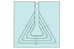 Nested Mini Equilateral Triangle
