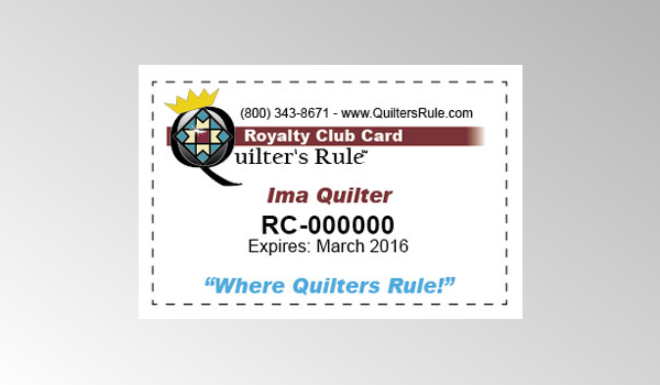 Quilter's Rule Royalty Club